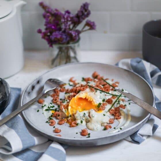 Pochiertes Ei mit Krabben Sylt Rezept